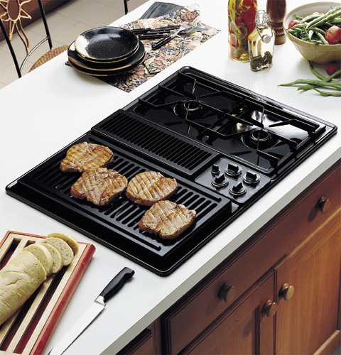 Built In Ge Cooktops ~ Ge profile™ quot built in downdraft modular gas cooktop
