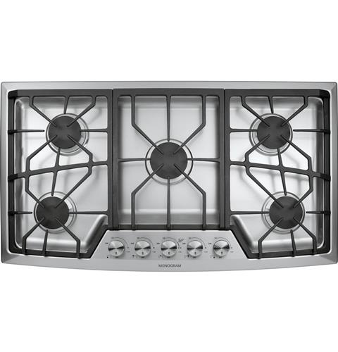 Zgu385nsmss Monogram 36 Stainless Steel Gas Cooktop Natural Liances