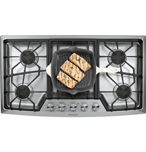 "Thumbnail of Monogram 36"" Stainless Steel Gas Cooktop (Natural Gas) 1"