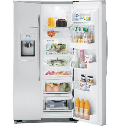 GE Profile™ Counter-depth 23.2 Cu. Ft. Stainless-Wrapped Side-by-Side Refrigerator