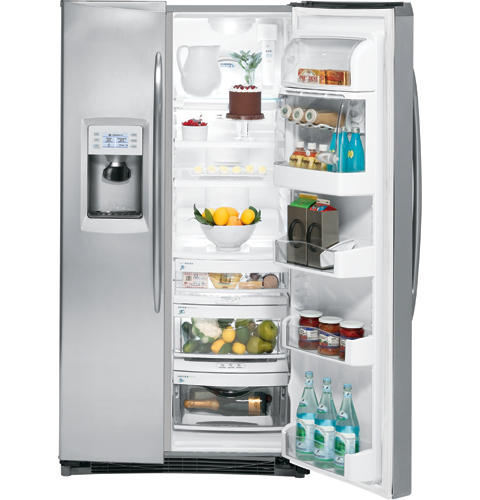 GE Profile™ 25.5 Cu. Ft. Stainless Side-by-Side Refrigerator