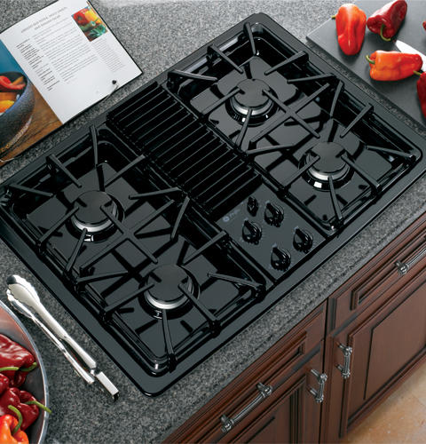 GE ProfileTM Built In Downdraft Gas Modular Cooktop