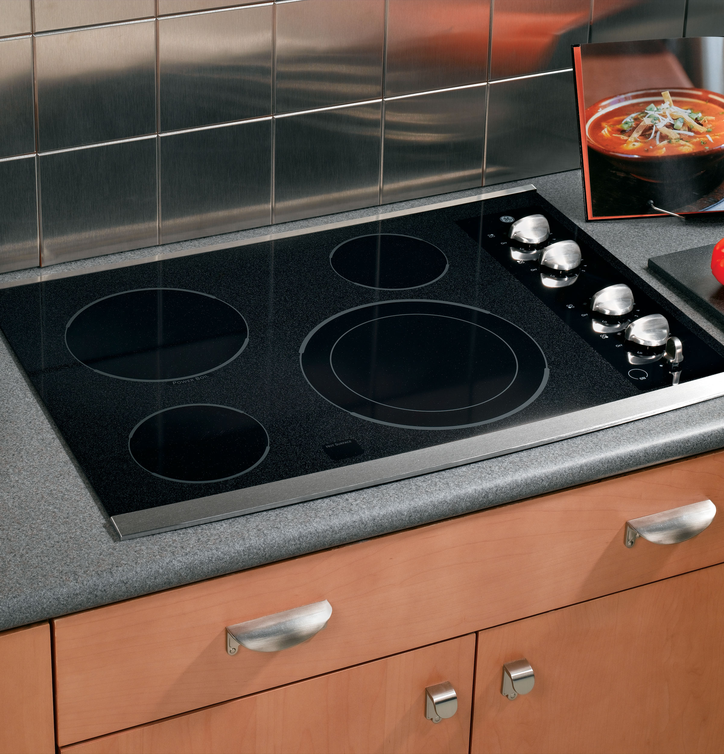 Built In Ge Cooktops ~ Ge quot built in electric cooktop jp smss appliances