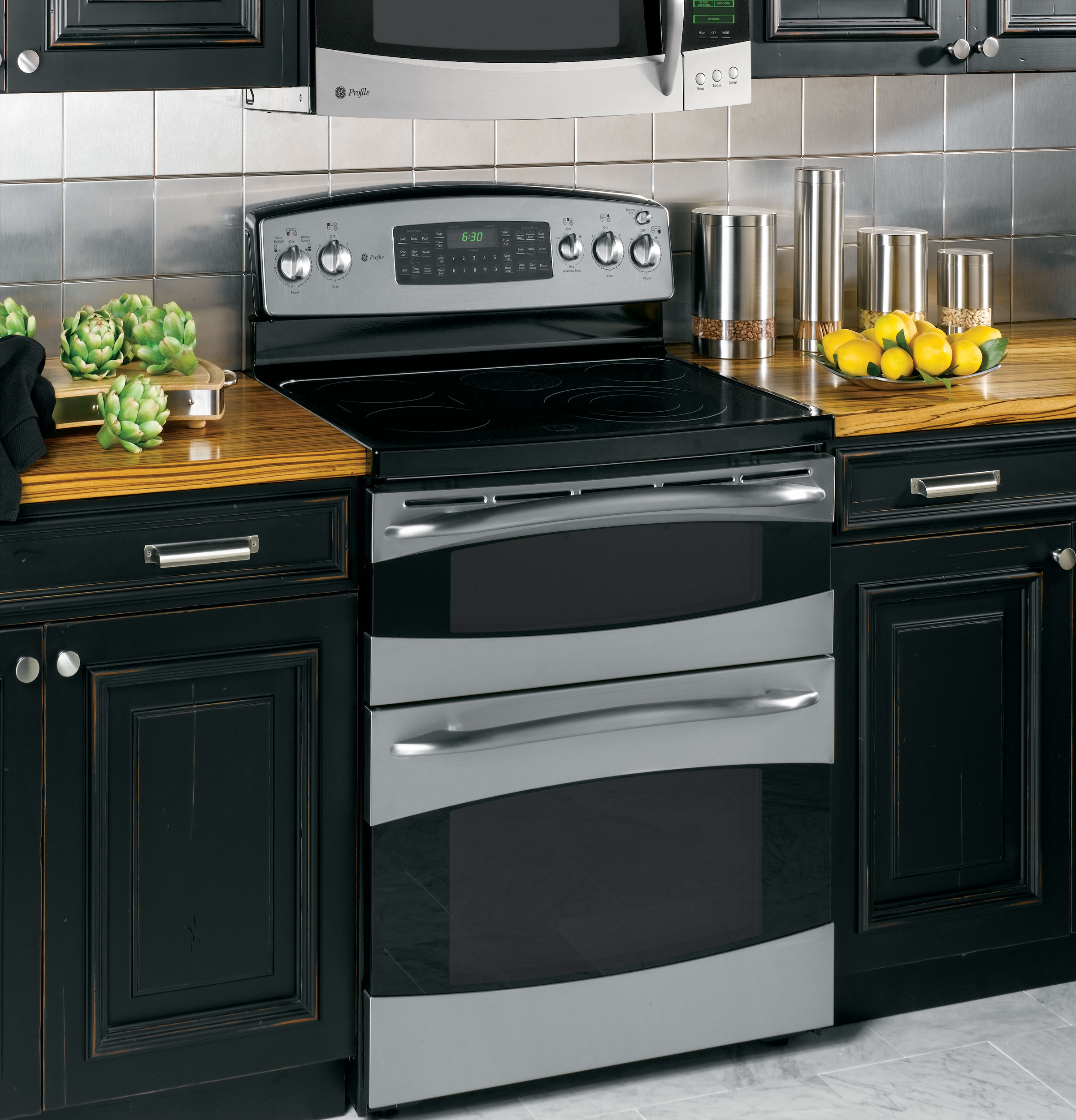 Double Oven Range ~ Range oven ge profile double electric