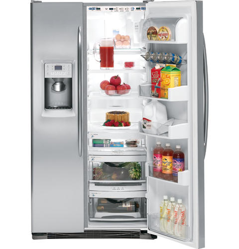 GE Profile™ Counter-depth 23.2 Cu. Ft. Stainless Side-by-Side Refrigerator