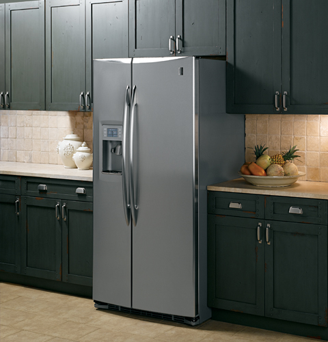 Ge Profile 25 5 Cu Ft Stainless Side By Side Refrigerator Pss26pswss Ge Appliances