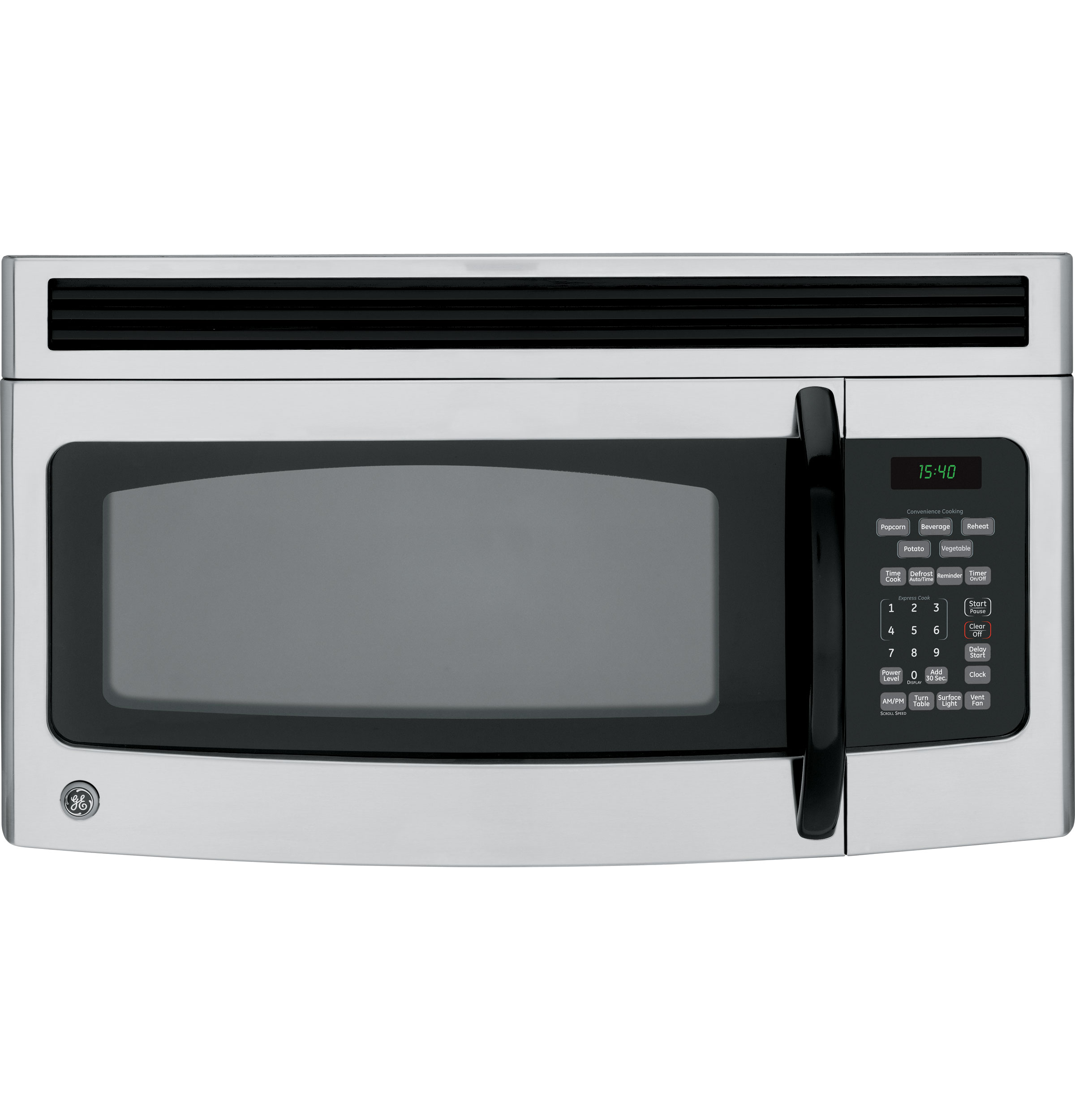 Ge Emaker 1 5 Cu Ft Capacity Over The Range Microwave Oven