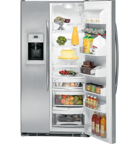 GE Profile™ Counter-depth 24.6 Cu. Ft. Stainless Side-by-Side Refrigerator