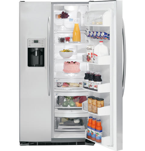 GE Profile™  25.6 Cu. Ft. Stainless Side-by-Side Refrigerator