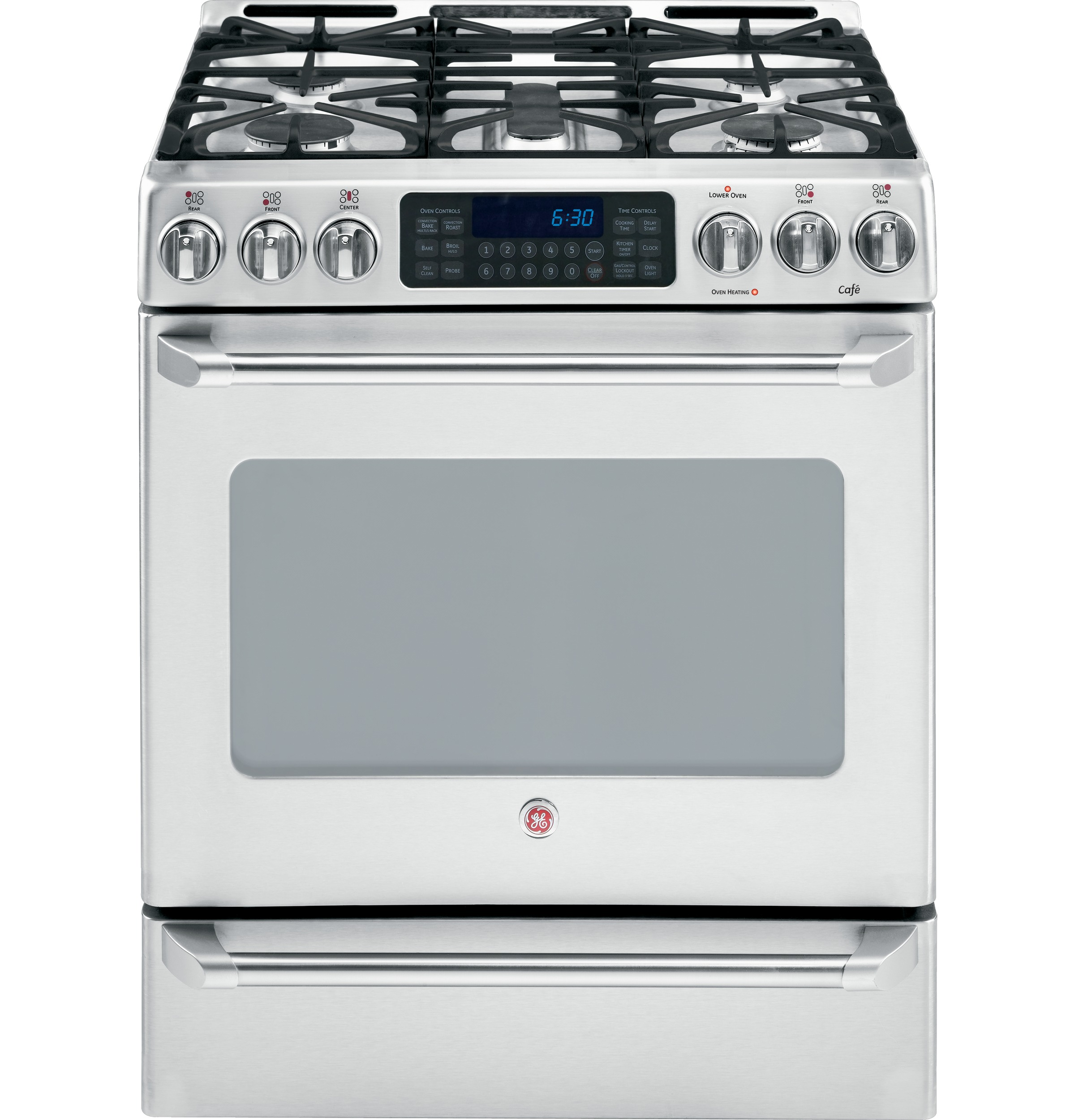 Ge cafe dual fuel slide in range - Product Image Product Image