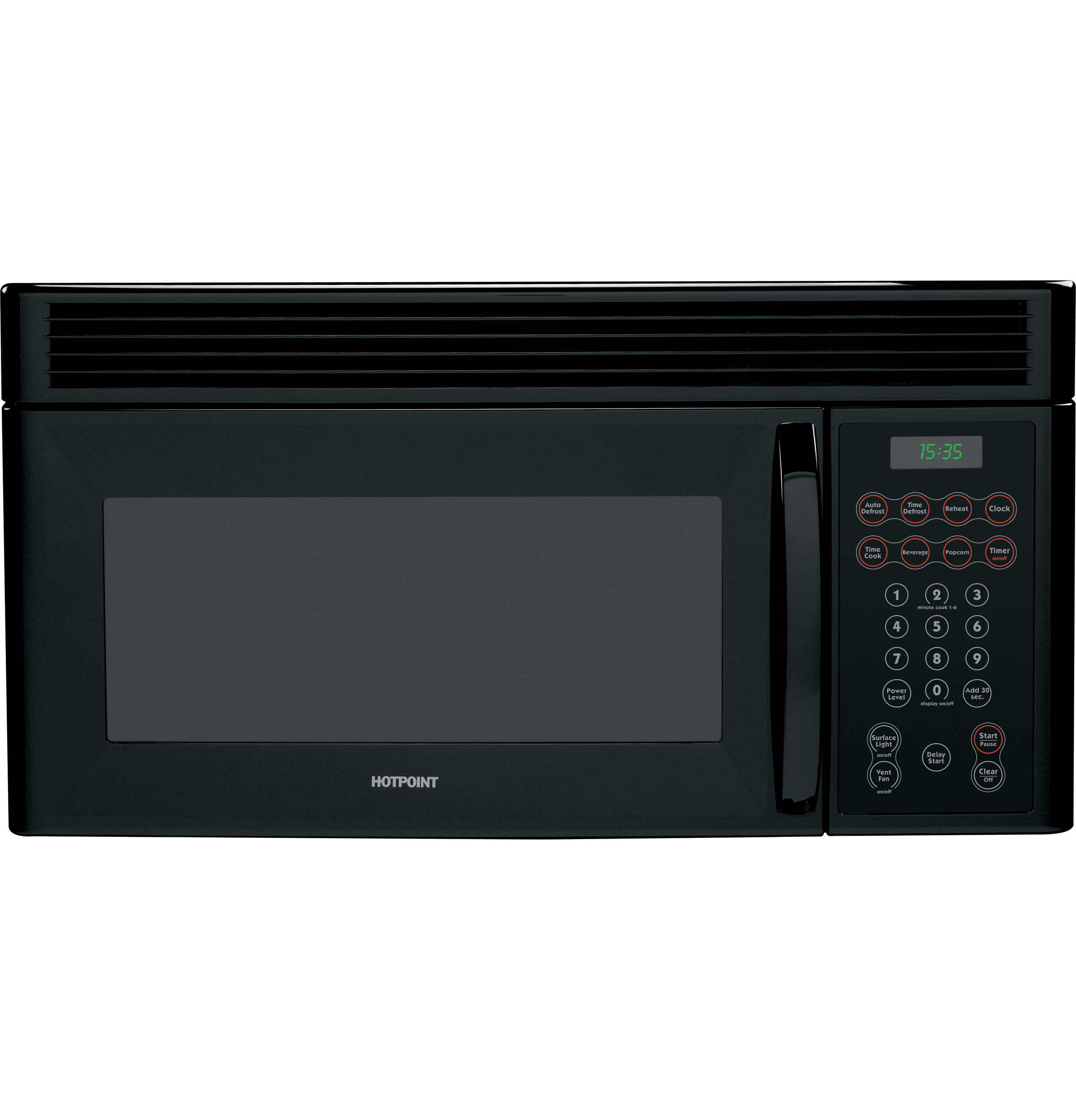 Hotpoint rvm1335bc hotpoint® 1. 3 cu. Ft. Counter saver plus.
