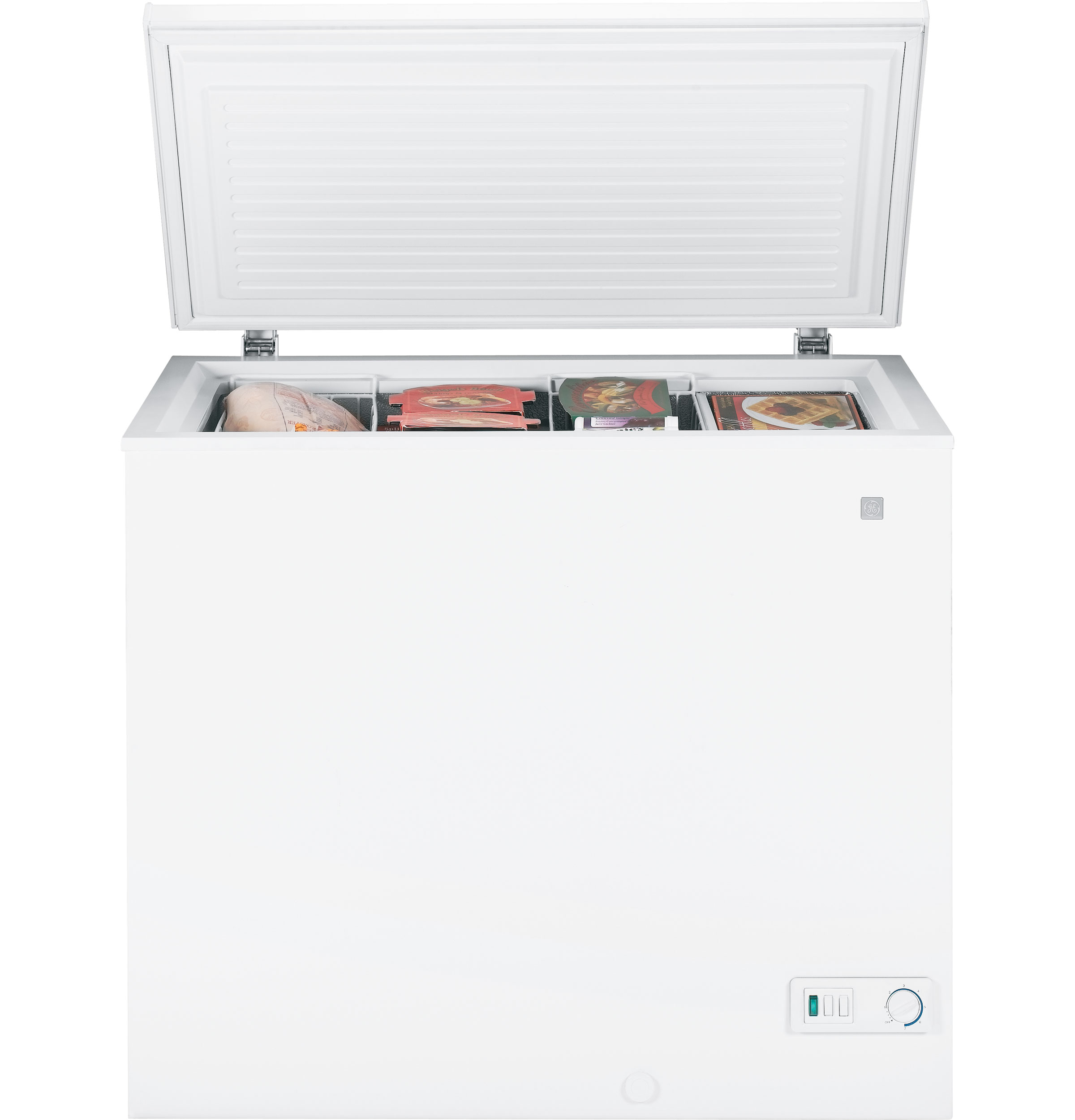 ge® 7 0 cu ft manual defrost chest zer fcm7suww ge product image