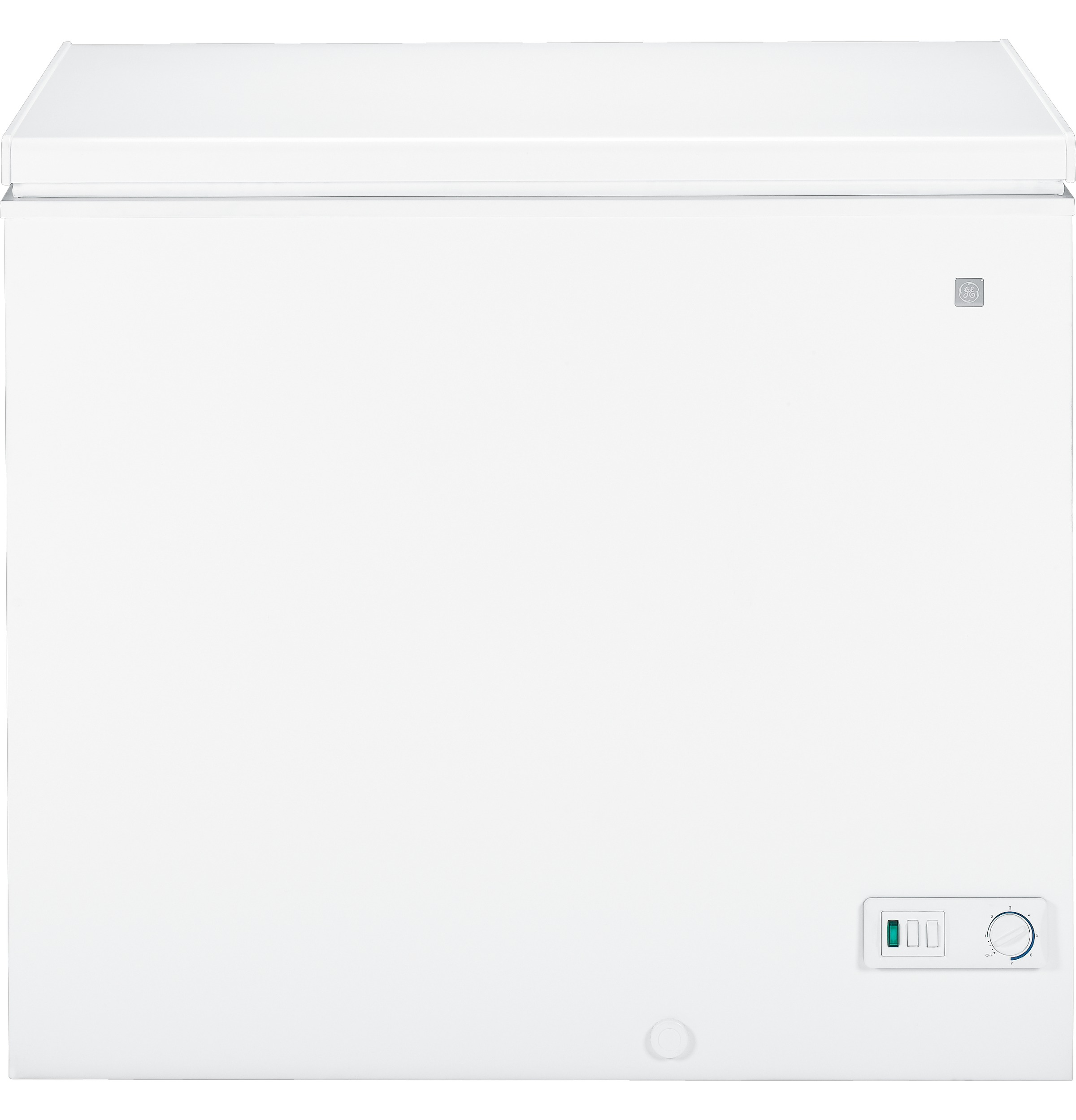 ge® 7 0 cu ft manual defrost chest zer fcm7suww ge product image product image product image