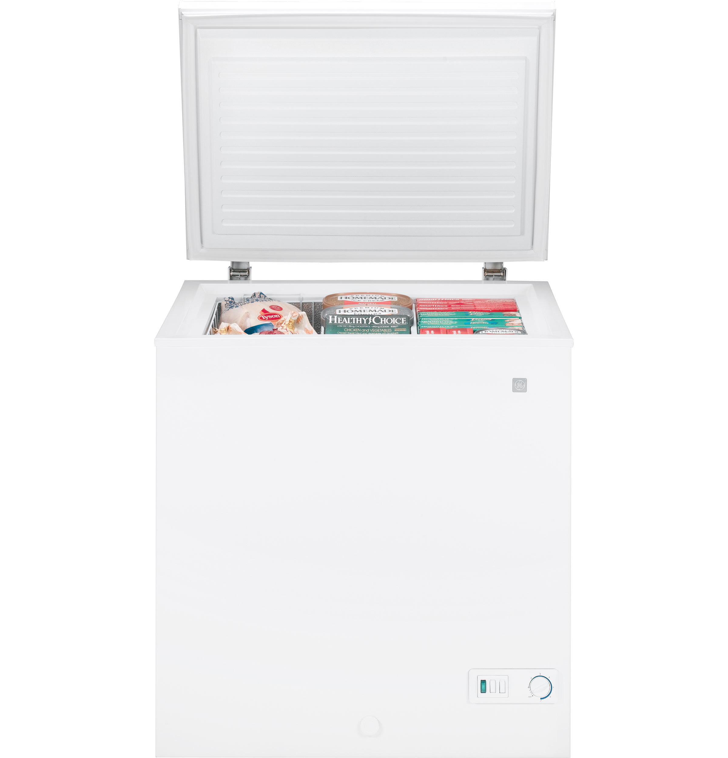 ge® 5 0 cu ft manual defrost chest zer fcm5suww ge product image