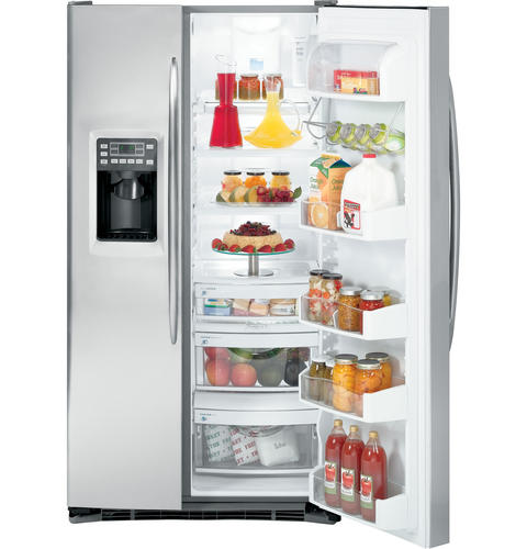 GE Profile™ 26.6 Cu. Ft. Side-by-Side Refrigerator with Integrated Dispenser