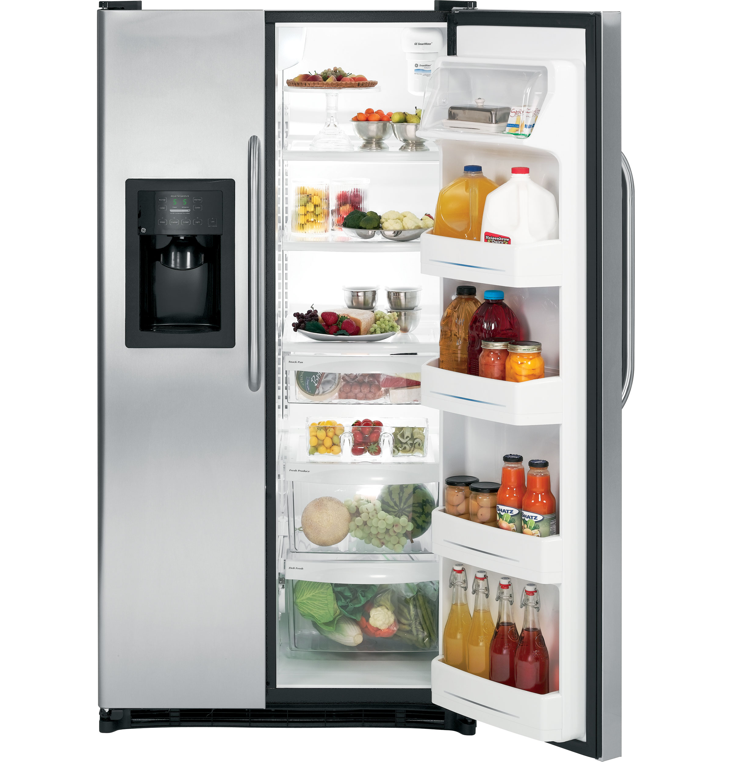 Ge Profile Performance Gear Energy Starar 253 Cu Ft Side By Side Refrigerator With
