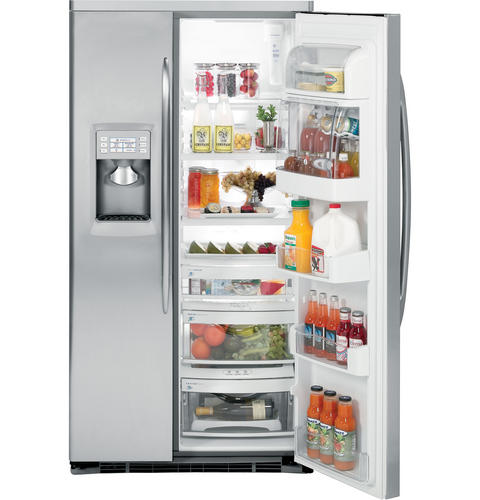 GE Profile™ ENERGY STAR® 23.2 Cu. Ft. Stainless-Wrapped Side-by-Side Refrigerator