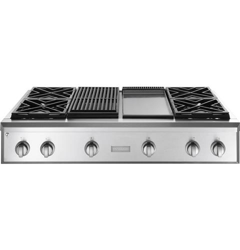 Zgu484lgpss Ge Monogram 48 Professional Gas Rangetop With 4 Burners Grill And Griddle Liquid Propane Liances