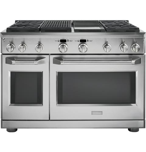 Zdp484ngpss Monogram 48 Dual Fuel Professional Range With 4 Burners Grill And Griddle Natural Gas Liances
