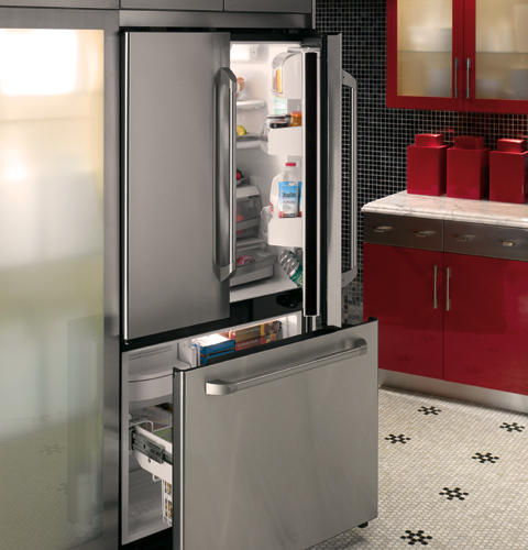 Ge Caf Series 209 Cu Ft Counter Depth French Door Refrigerator
