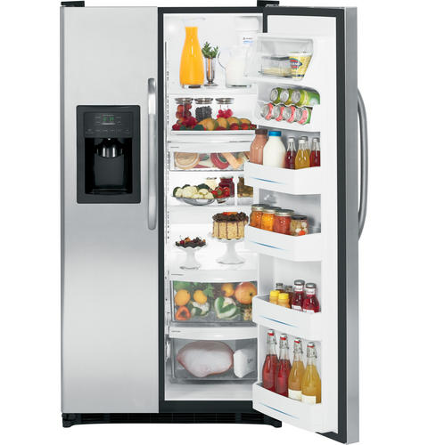 GE® 25.0 ENERGY STAR® Cu. Ft. Side-By-Side Refrigerator with Dispenser