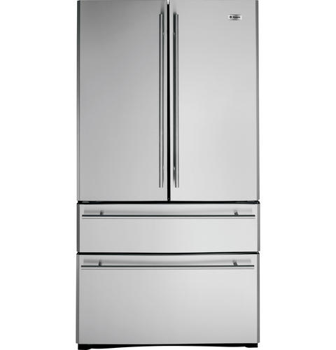 Zfgb21hzss Ge Monogram 20 6 Cu Ft French Door Two Drawer Free Standing Refrigerator Liances