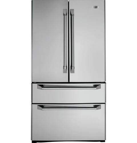 Zfgp21hzss Ge Monogram 20 6 Cu Ft French Door Two Drawer Free Standing Refrigerator Liances
