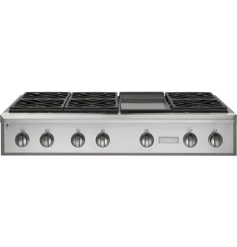 "Thumbnail of Monogram 48"" Professional Gas Rangetop with 6 Burners and Griddle (Natural Gas) 0"