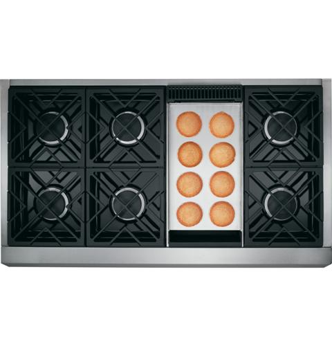 "Thumbnail of Monogram 48"" Professional Gas Rangetop with 6 Burners and Griddle (Natural Gas) 1"