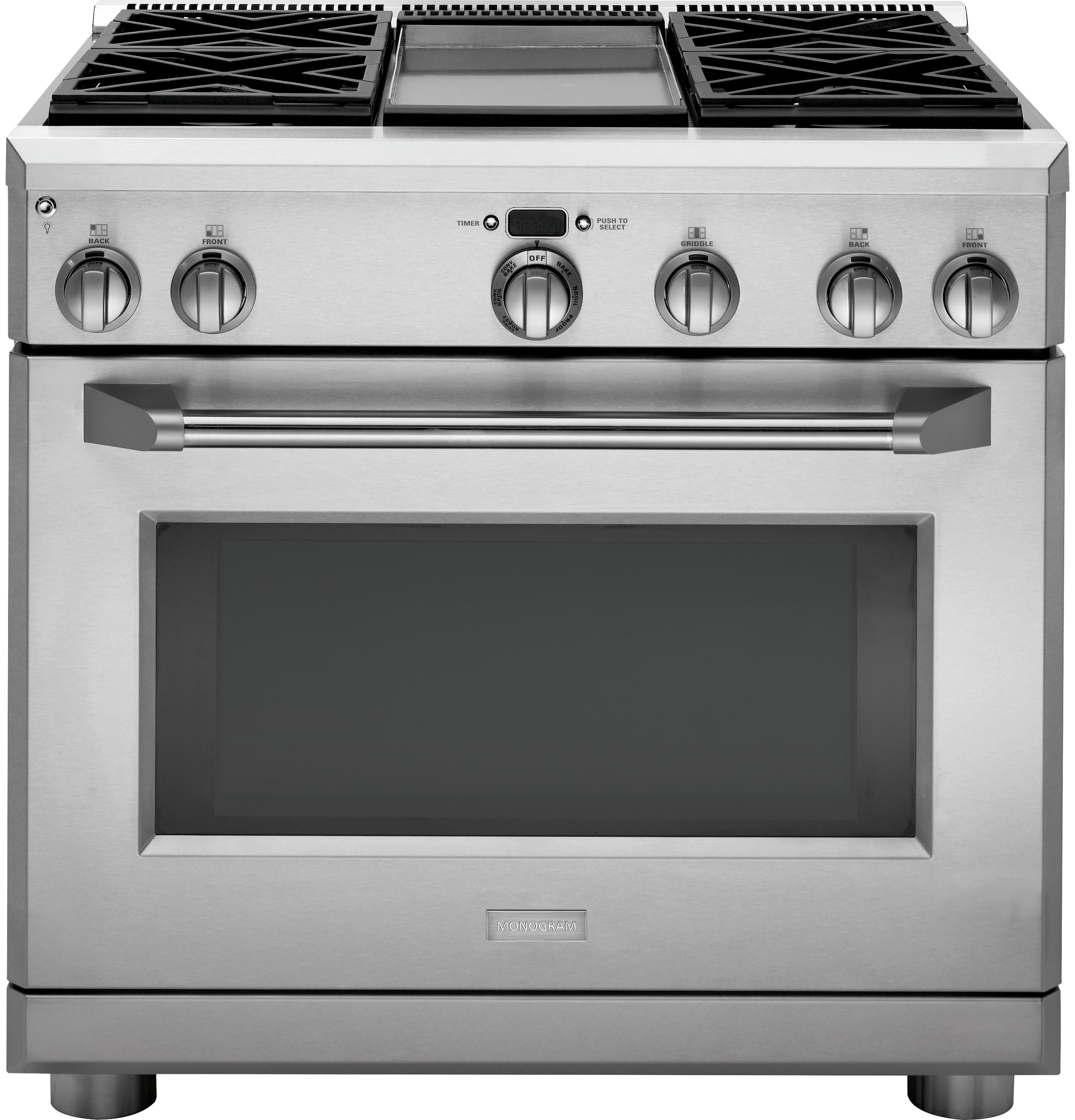 Monogram 36 all gas professional range with 4 burners and for Estufa profesional