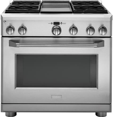 "Thumbnail of Monogram 36"" All Gas Professional Range with 4 Burners and Griddle (Natural Gas)"
