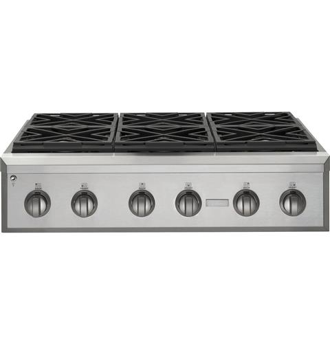 Zgu366npss Monogram 36 Professional Gas Rangetop With 6 Burners Natural Liances