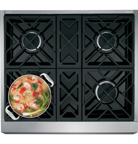 "Thumbnail of Monogram 30"" Dual-Fuel Professional Range with 4 Burners (Natural Gas) 3"