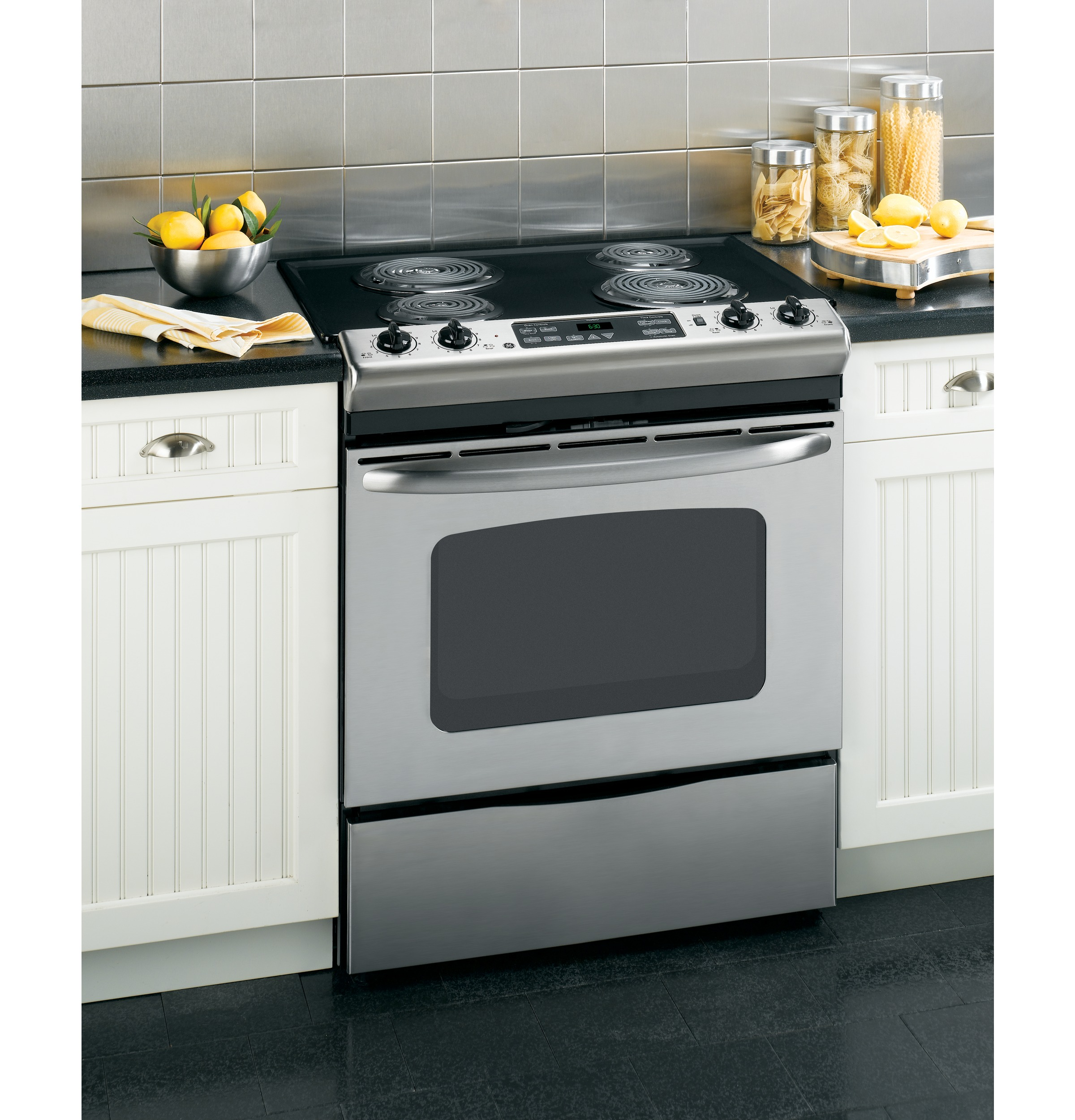 Best Slide In Ranges Electric ~ Ge quot slide in electric range with self cleaning oven