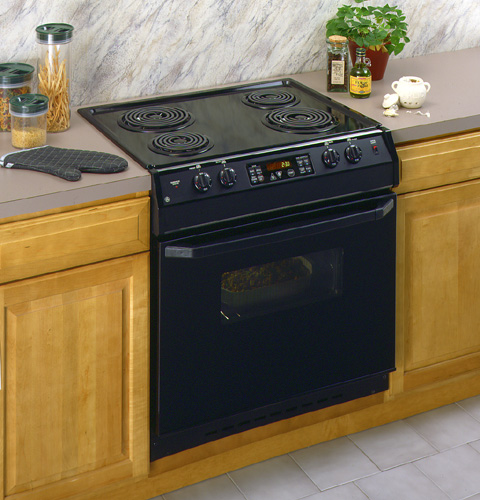 Drop In Cooktops Electric ~ Ge quot drop in electric range with self cleaning oven