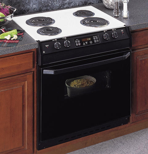 Ge 30 Drop In Electric Range With Self Cleaning Oven And Black
