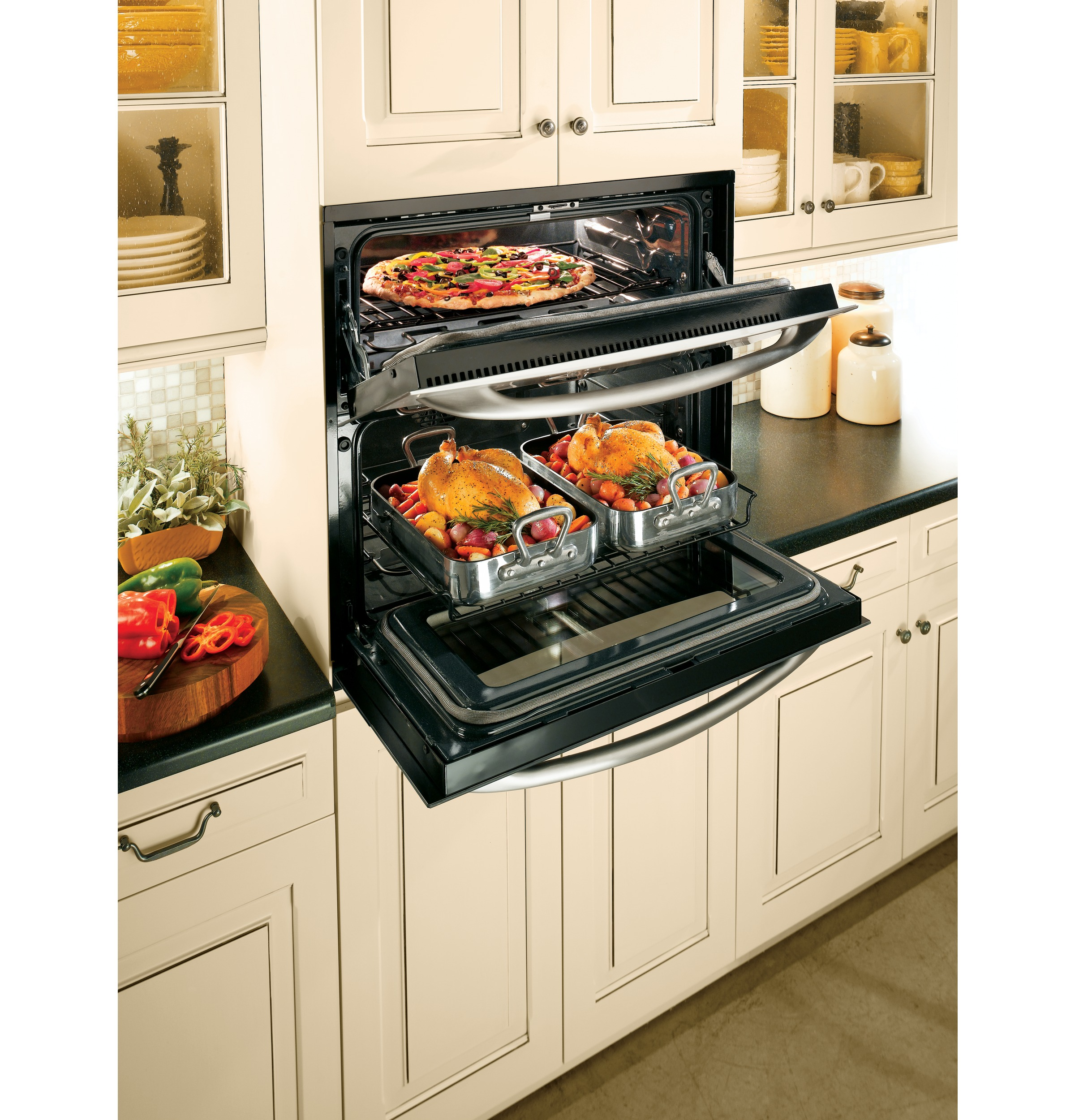 Wall oven under cooktop - Product Image Product Image Product Image Product Image
