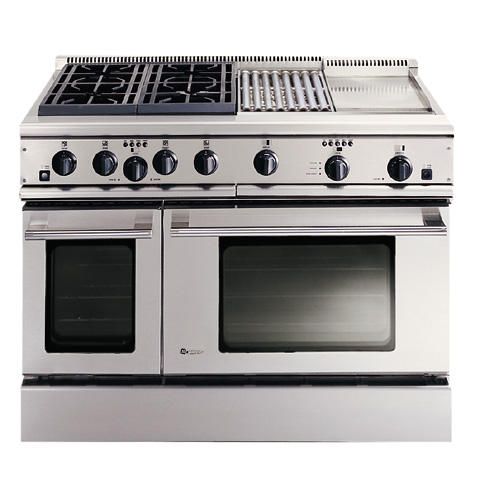 Zdp48n4gwss Ge Monogram 48 Professional Range With 4 Burners Grill And Griddle Natural Gas Liances