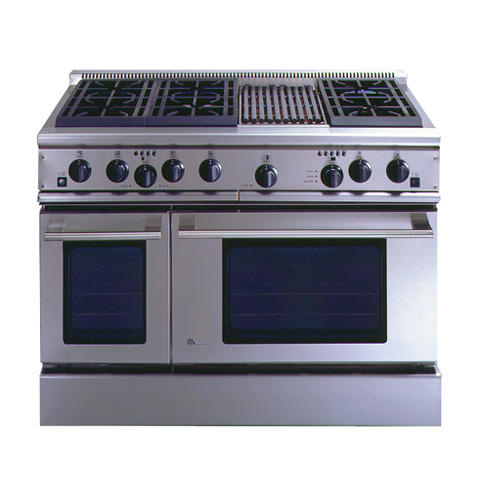 Zdp48n6rdss Ge Monogram 48 Professional Range With 6 Burners And Grill Natural Gas Liances