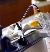 GE Profile™ Reverse Osmosis Filtration System with 18-Gallon Output per Day and Bisque on Bisque Faucet