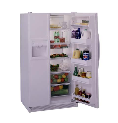 GE® 25.2 Cu. Ft. Side-By-Side Refrigerator with Dispenser