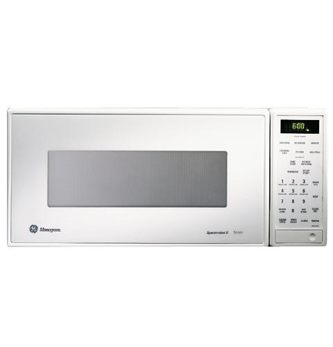 Zem200wy Ge Monogram White Compact Microwave Oven With Sensor Cooking Controls Liances