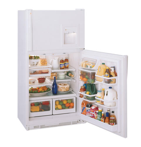 GE Profile Performance™ 21.7 Cu. Ft. Top-Freezer No-Frost CustomStyle™ Refrigerator with Dispenser