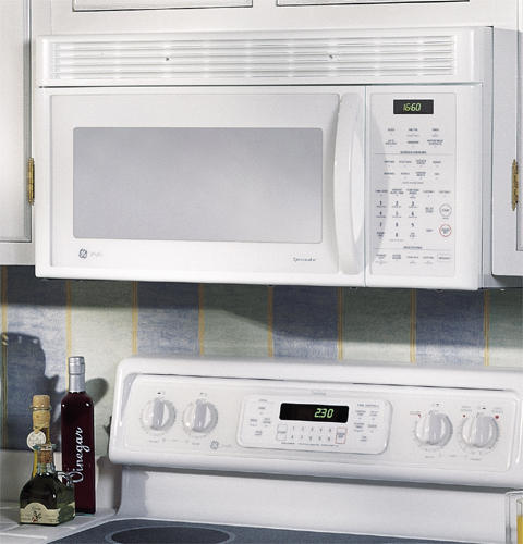 Size Of Microwave Oven Over The Range: GE Profile™ 1.6 Cu. Ft. Spacemaker® XL1600 Over-the-Range