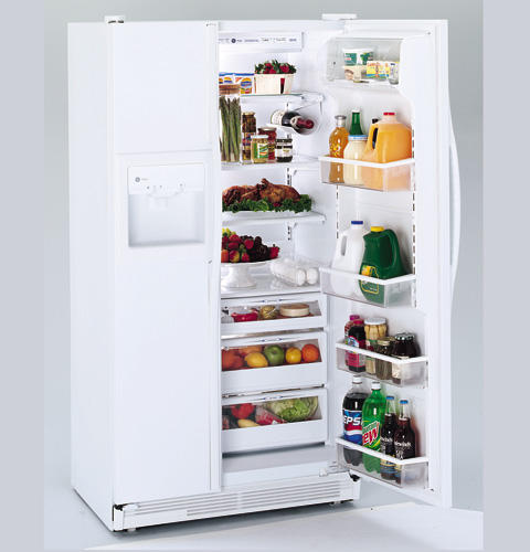 GE Profile™ 21.0 Cu. Ft. CustomStyle™ Side-by-Side Refrigerator with Dispenser
