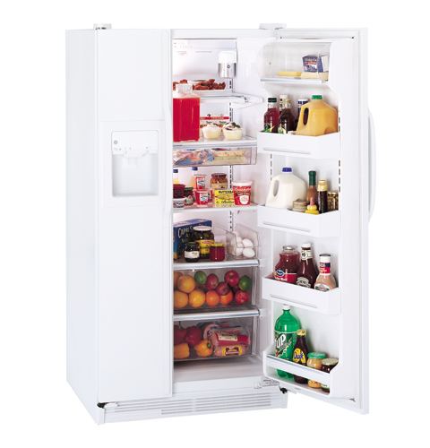 ge acirc reg cu ft side by side refrigerator dispenser and product image product image