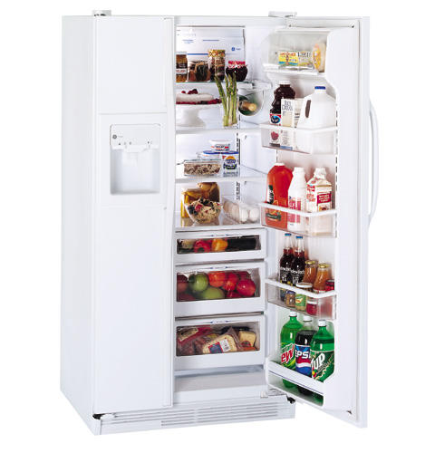 GE Profile™ 21.9 Cu. Ft. Side-by-Side Refrigerator with Dispenser