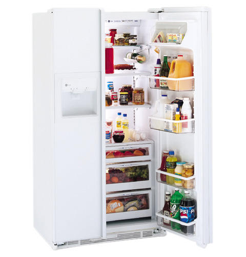 GE Profile™ 23.7 Cu. Ft. CustomStyle™ Side-by-Side Refrigerator with Dispenser