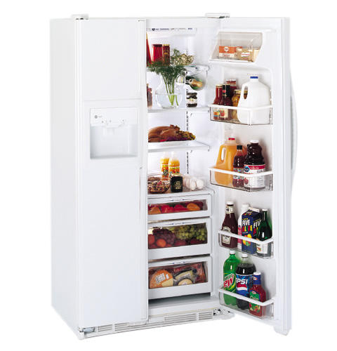 GE Profile Performance™ 23.7 Cu. Ft. CustomStyle™ Side-by-Side Refrigerator with Dispenser and Water By Culligan™