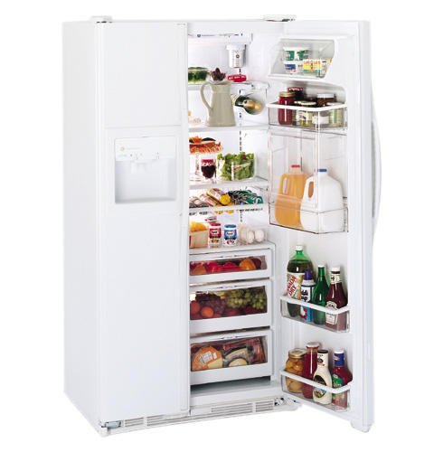 GE Profile Performance™ 23.7 Cu. Ft. CustomStyle™ Side-by-Side Refrigerator w/ Refreshment Center & Electronic Monitor